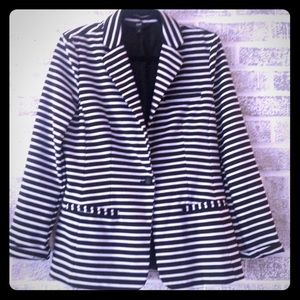 Mossimo Striped Career Blazer sz L NWOT